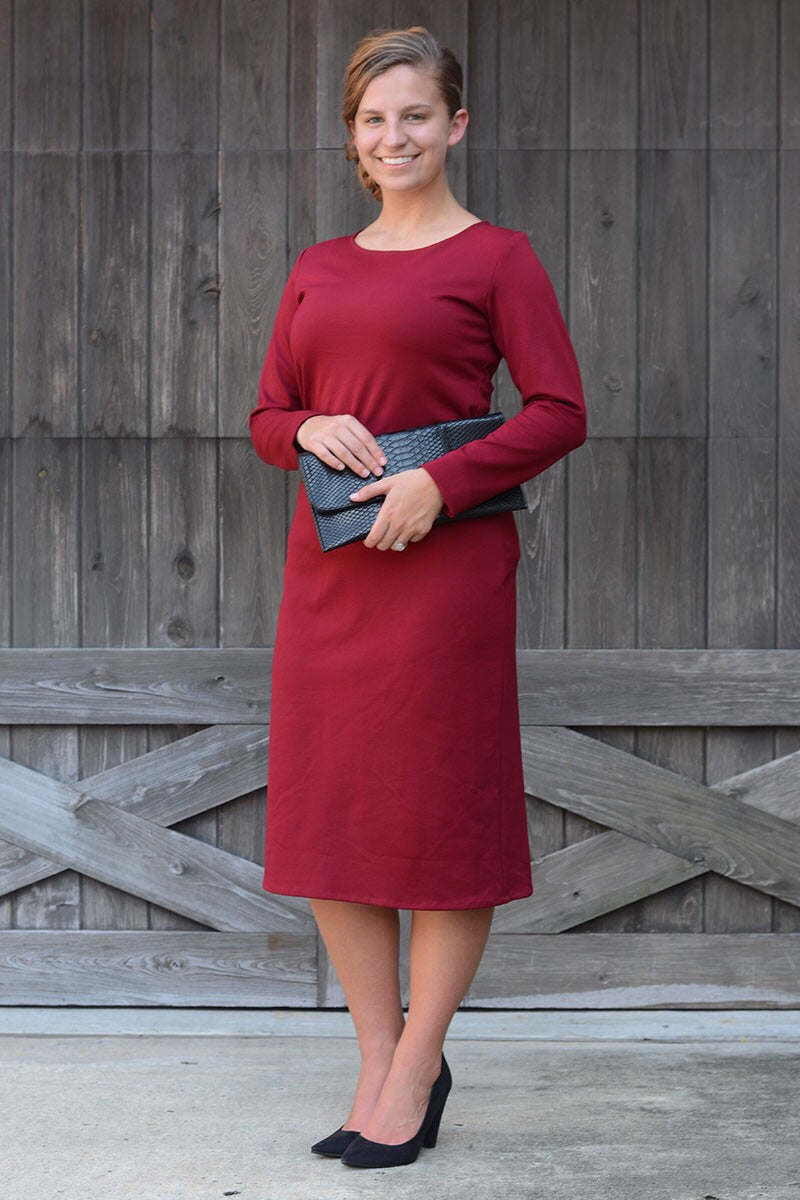 Lilian Burgundy Layering Dress