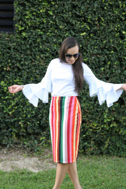 'Riley' Multi Color Skirt
