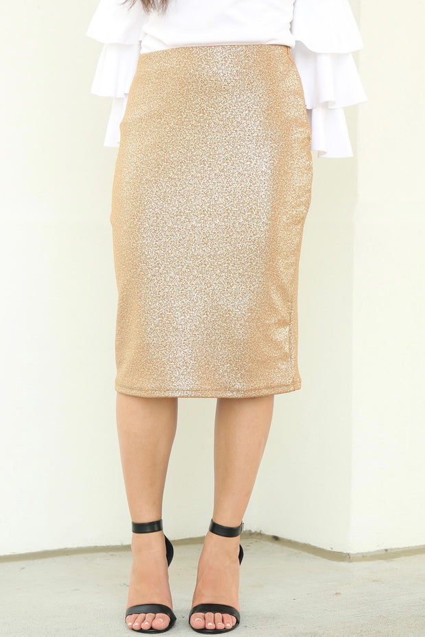 'Riley' Gold Sparkle Skirt