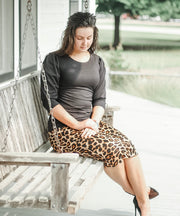 'Riley' Leopard Skirt
