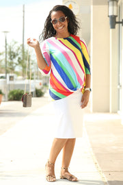 'Misty' Multi-Color Stripe Shirt