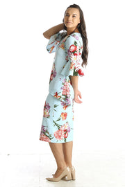 'Abigail' Baby Blue Floral Tunic