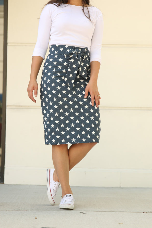 'Stars' Denim Skirt