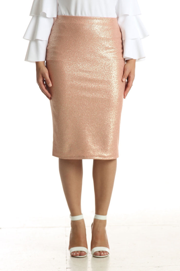 'Riley' Blush Sparkle Skirt