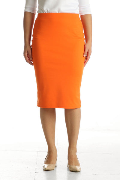'Riley' Orange Skirt