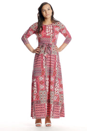 'Reagan' Pink Paisley Maxi Dress