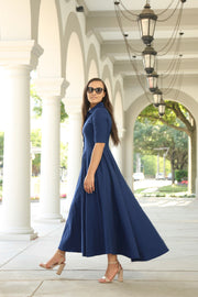 'Christina' Navy Blue Dress