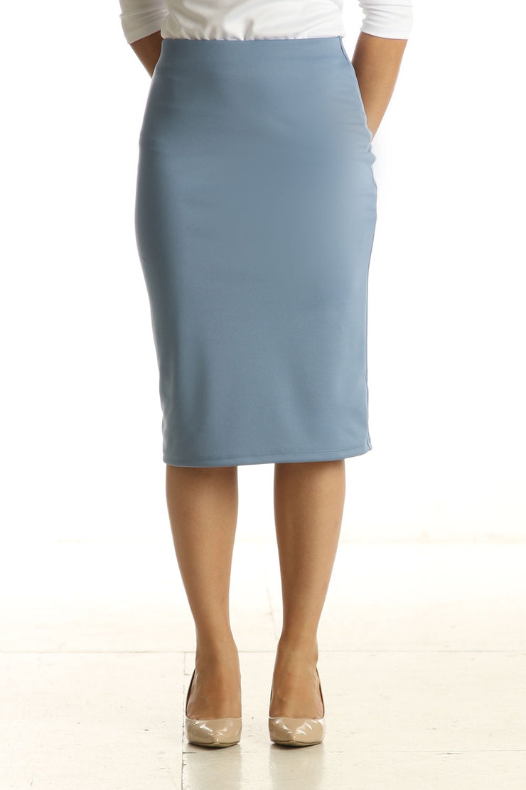 'Riley' Slate Blue Skirt