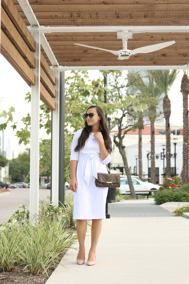'Bria' White Dress