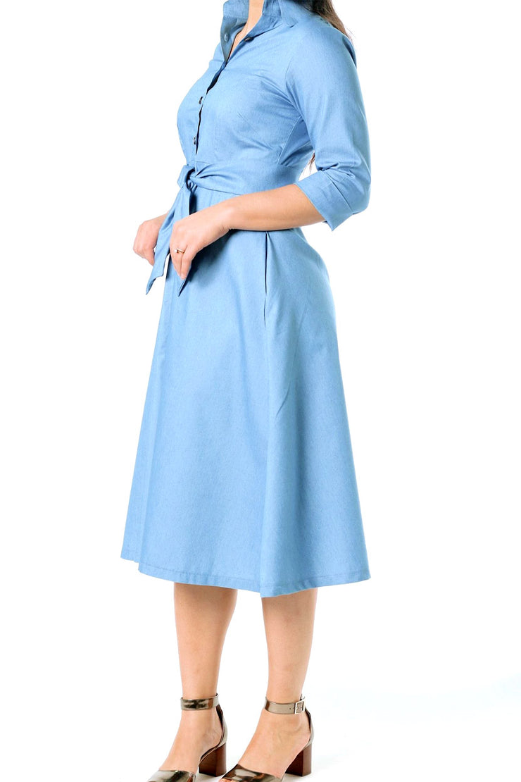 'Kate' Chambray Dress