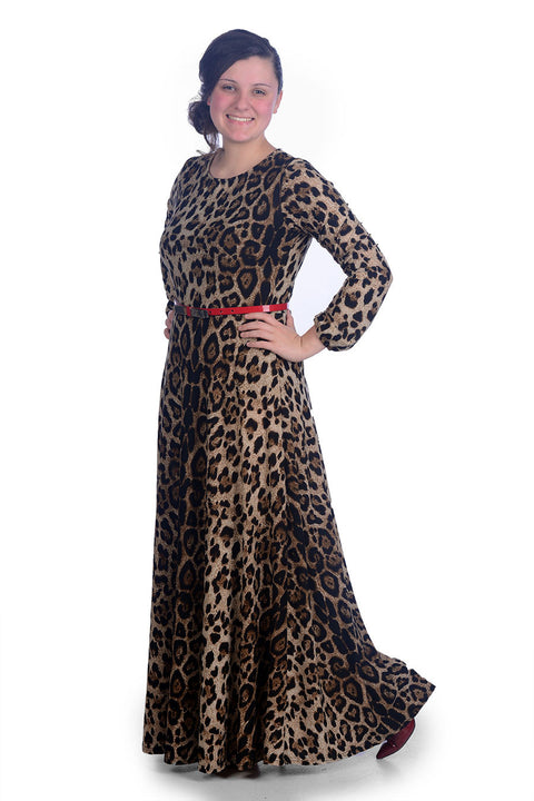 Allison Leopard Maxi Dress