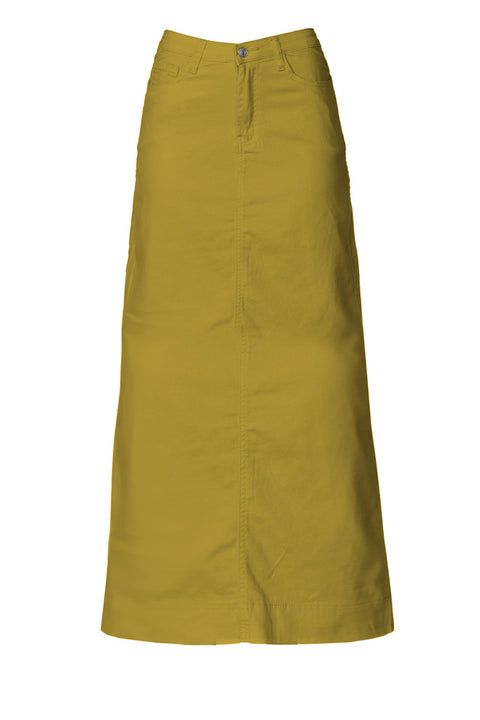 Long Mustard Denim Skirt (PRE-ORDER)