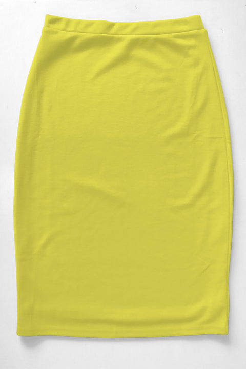 Sunshine Yellow Premium Knit Skirt