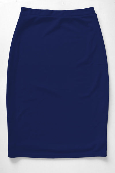 Navy Premium Knit Skirt
