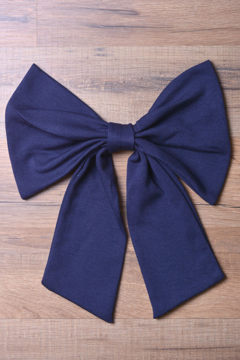 Navy Knit Bow
