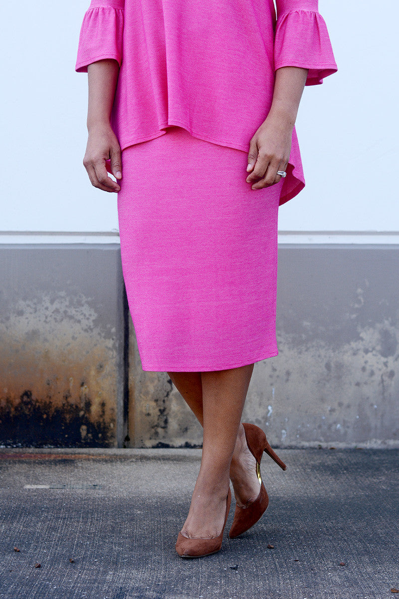 Hot Pink Premium Knit Skirt