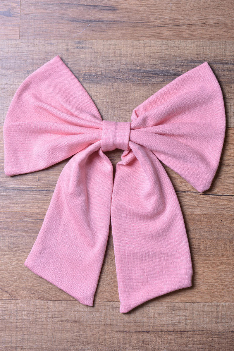 Pink Knit Bow