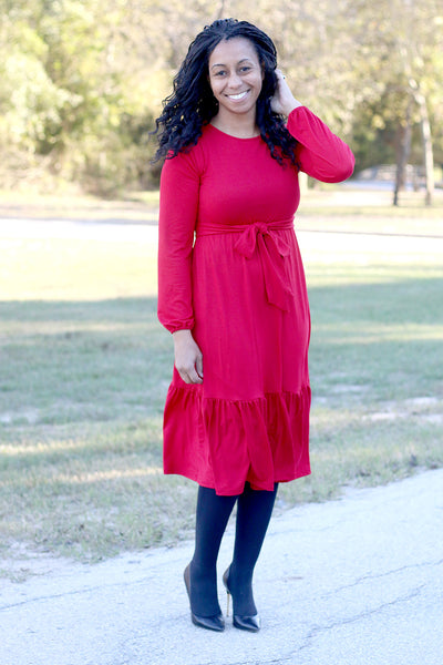 'Estelle' Red Dress