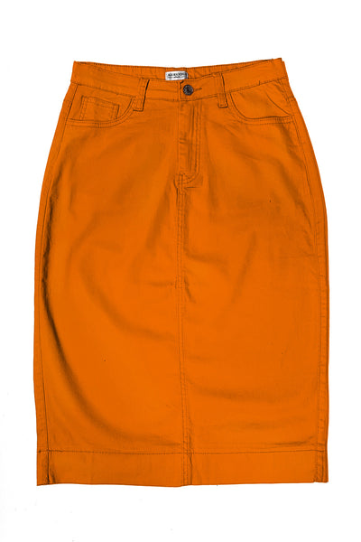 Russett Orange Color Denim