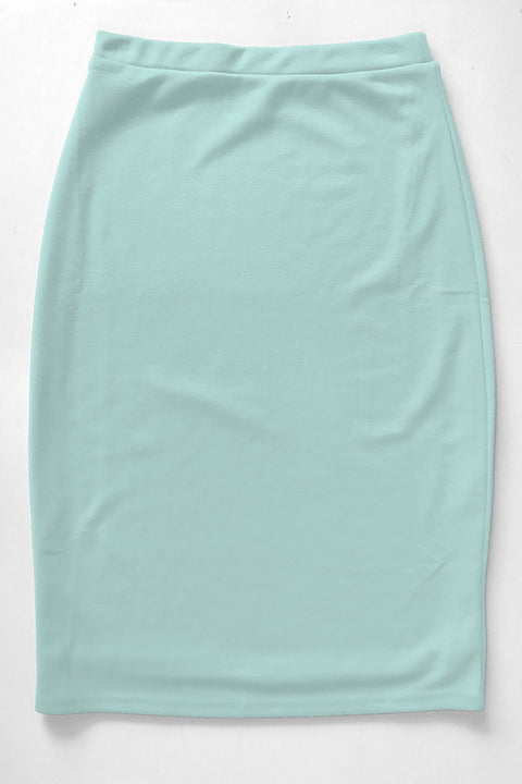 Soft Mint Premium Knit Skirt