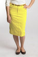 Sunshine Yellow Denim Skirt