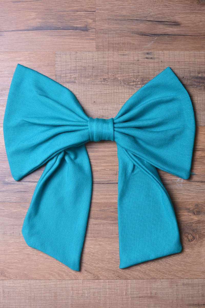 Emerald  Knit Bow