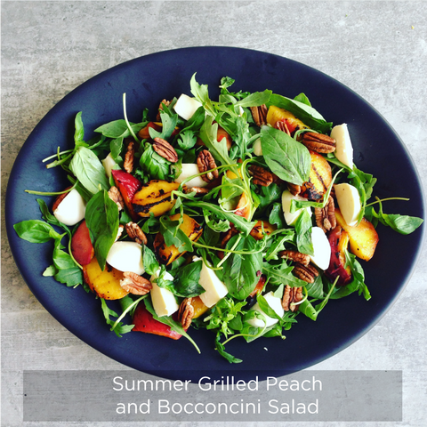 Summer Grilled Peach and Bocconcini Salad