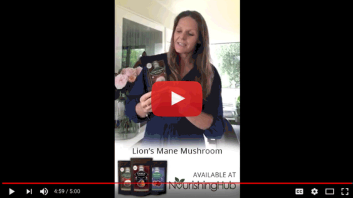 5 mins on the benefits of Reishi, Chaga & Lions Mane