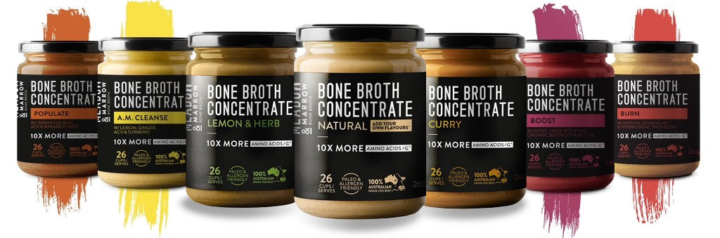 Meadow and Marrow Bone Broth products