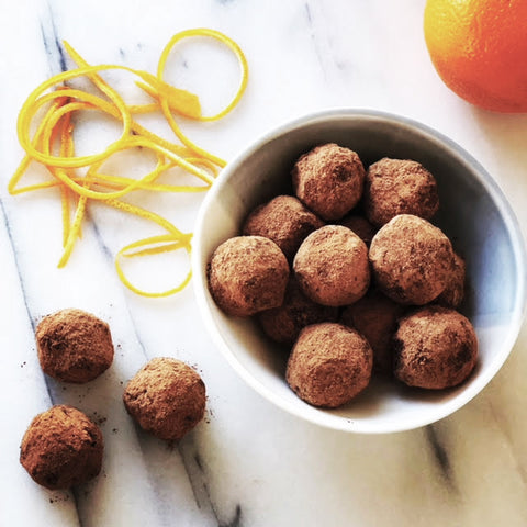 Delicious Healthy Orange Chocolate truffles – Nut-free