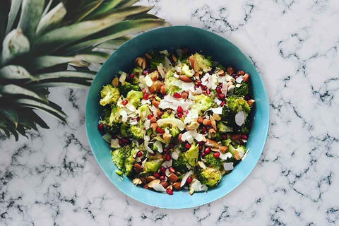 Roasted Broccoli, Almond and Coconut Salad