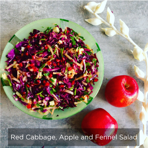 Red Cabbage, Apple and Fennel Salad