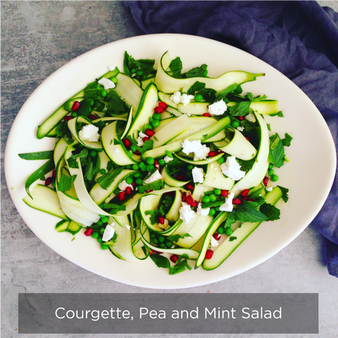 Courgette, Pea and Mint Salad