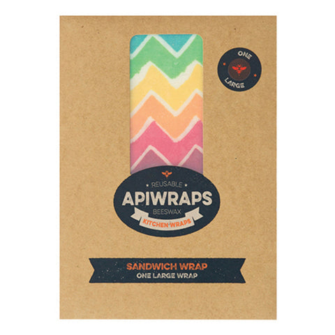 APIWRAPS Beeswax Wraps for Sandwich - 1 Large