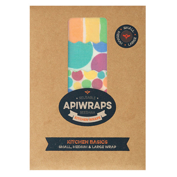 APIWRAPS Beeswax Wraps for Kitchen - Nourishing Hub