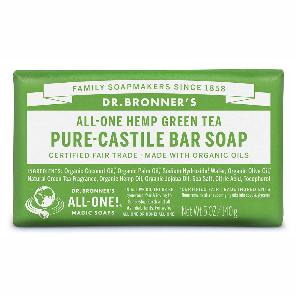 Dr. Bronner's Pure-Castile Bar Soap - Green Tea - Nourishing Hub