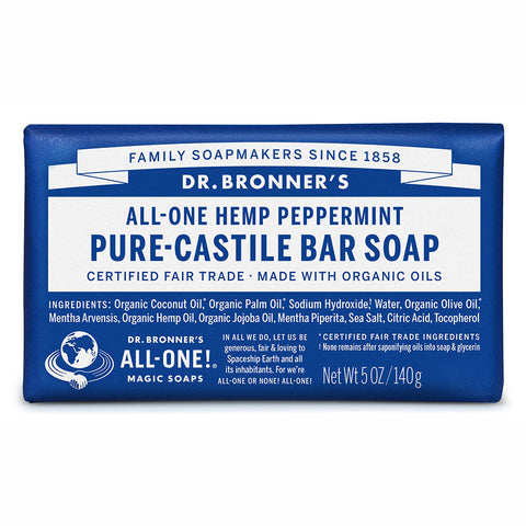 Dr. Bronner's Pure-Castile Bar Soap - Peppermint 20% OFF