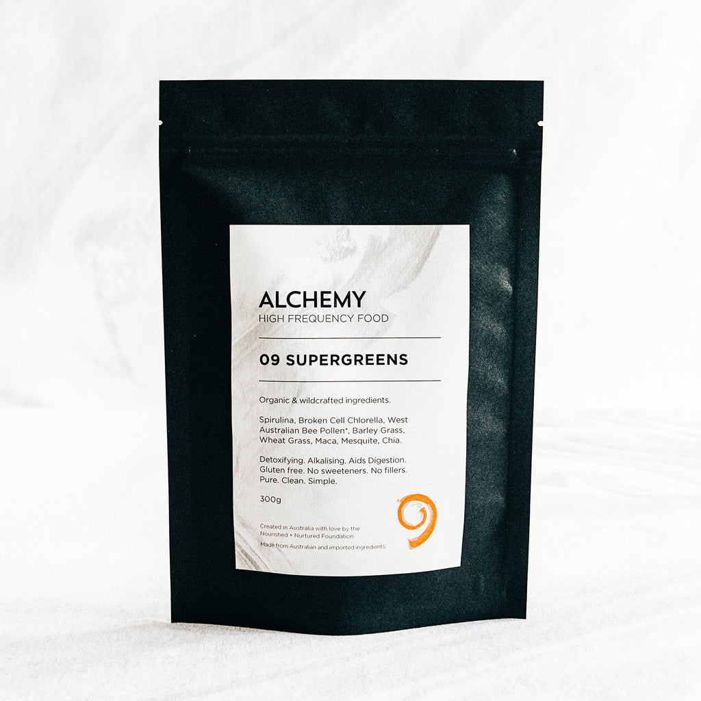 Alchemy 09 SUPERGREENS 300G - Nourishing Hub