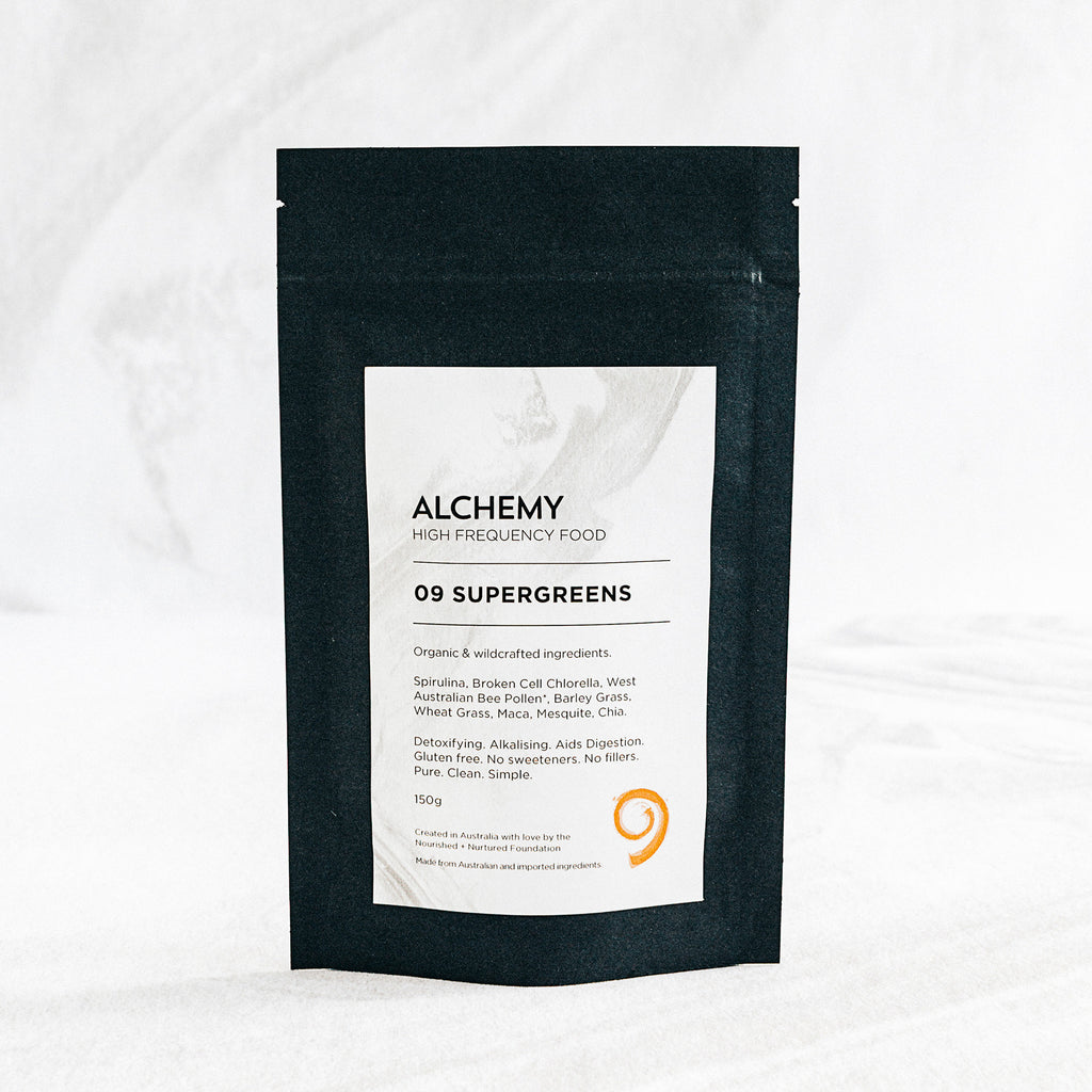 Alchemy 09 SUPERGREENS 150G - Nourishing Hub