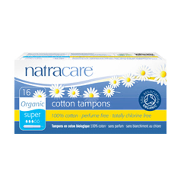 Natracare Tampons - Super (Applicator) - 16 pads - 20% OFF - Nourishing Hub