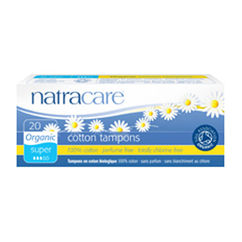 Natracare Tampons - Super (Non-Applicator) - 20 pads - 20% OFF