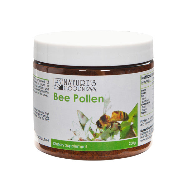 Natures Goodness Bee Pollen Granules 250g - Nourishing Hub