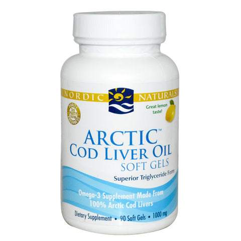 Nordic Naturals Cod Liver Oil 90 Caps - Lemon 20% OFF