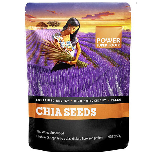 Power Super Chia Seeds Black and White - 500g - Nourishing Hub