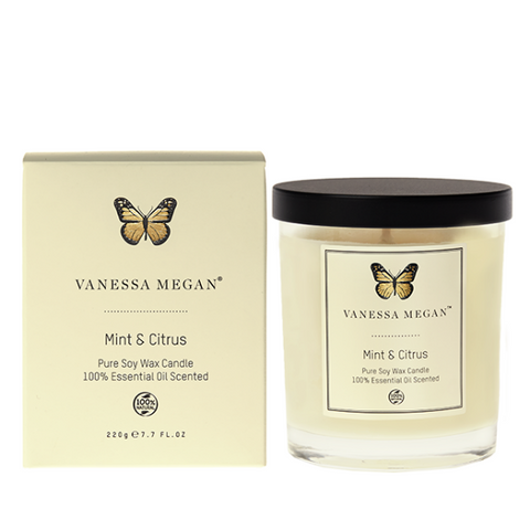 Vanessa Megan Mint & Citrus Soy Wax Candle