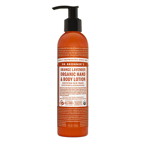 Dr. Bronner's Organic Lotion - Orange Lavender 20% OFF