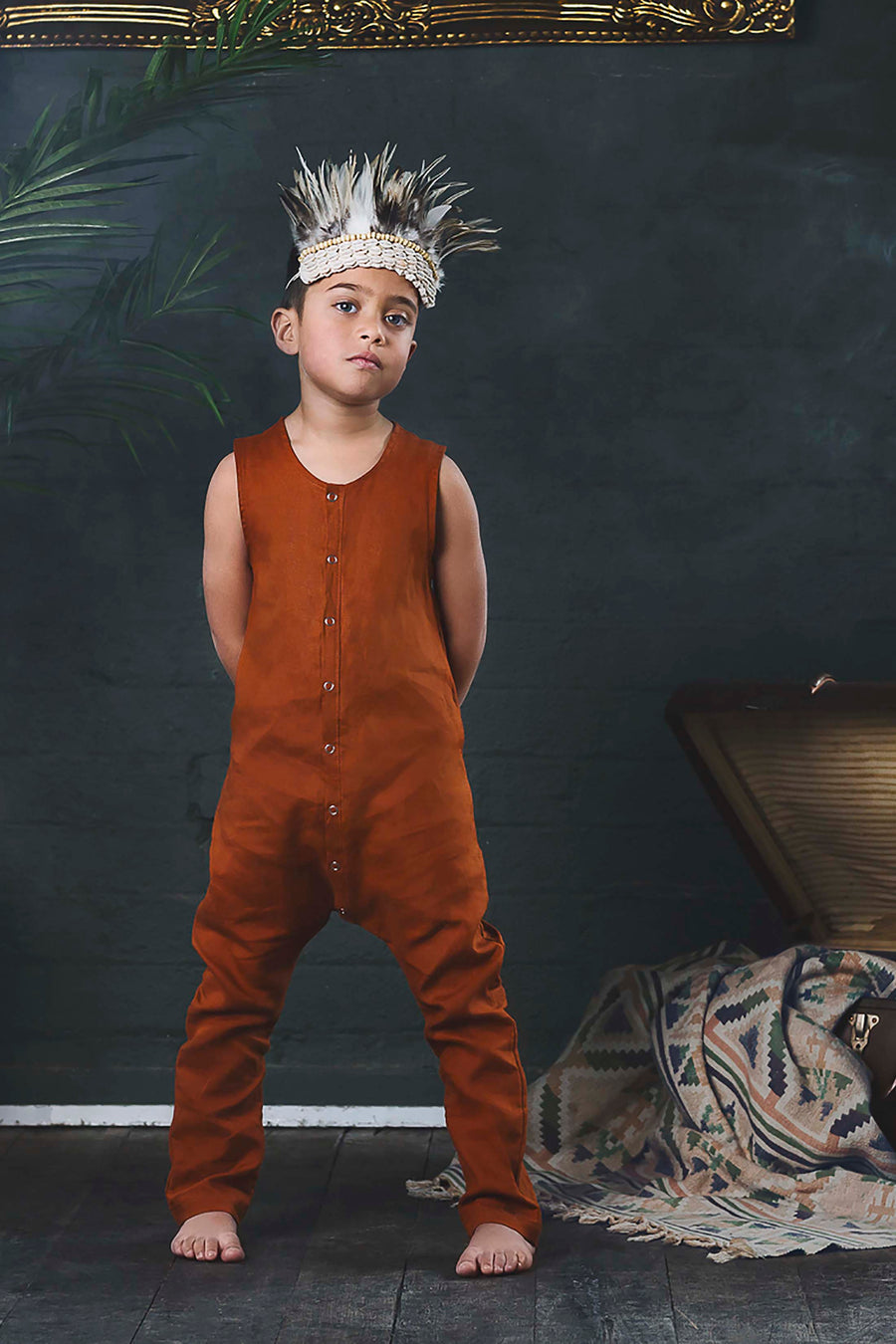Merle Romper - Terracotta - Moose & Finch