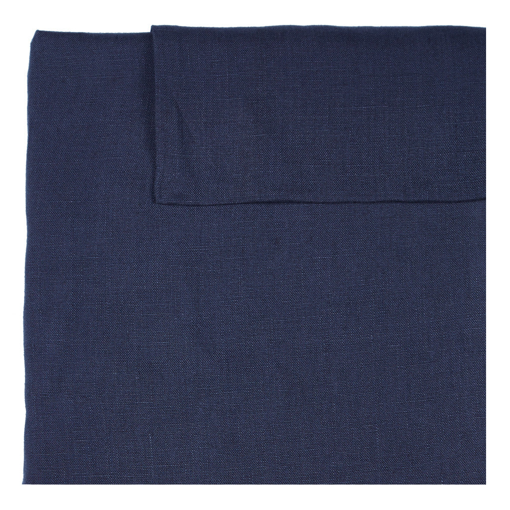Linen Standard Pillowcase - Blaze Navy
