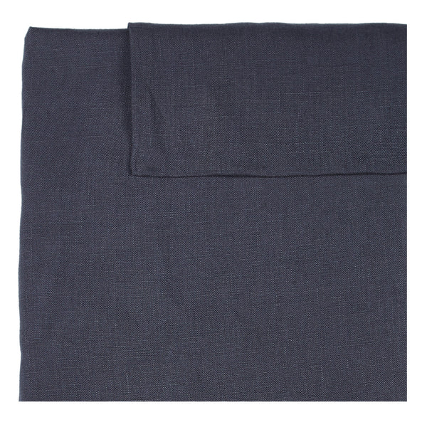 Linen Quilt Cover - Gun Grey