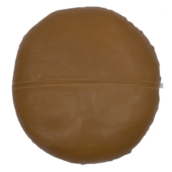 Esther Round Tan Leather Cushion